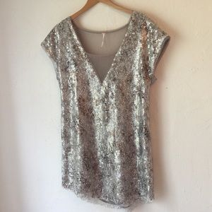 FreePeople Dreamers Shattered sequin short dress S